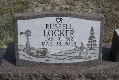 LOCKER, RUSSELL - Dawes County, Nebraska | RUSSELL LOCKER - Nebraska Gravestone Photos