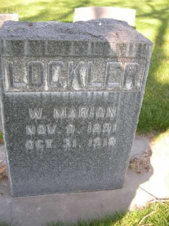 LOCKLER, W. MARION - Dawes County, Nebraska | W. MARION LOCKLER - Nebraska Gravestone Photos
