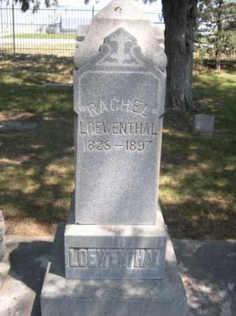 LOEWENTHAL, RACHEL - Dawes County, Nebraska | RACHEL LOEWENTHAL - Nebraska Gravestone Photos