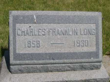 LONG, CHARLES FRANKLIN - Dawes County, Nebraska | CHARLES FRANKLIN LONG - Nebraska Gravestone Photos