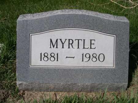 LONGCOR, MYRTLE - Dawes County, Nebraska | MYRTLE LONGCOR - Nebraska Gravestone Photos