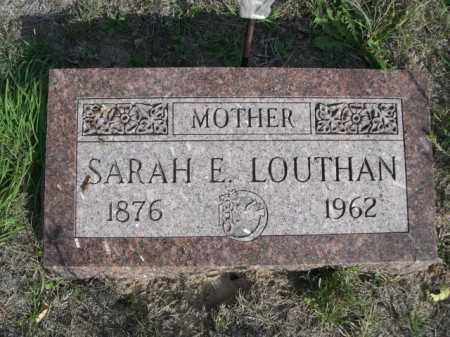 LOUTHAN, SARA E. - Dawes County, Nebraska | SARA E. LOUTHAN - Nebraska Gravestone Photos