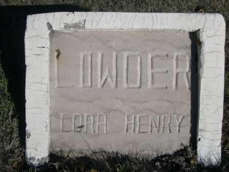 LOWDER, LORA HENRY - Dawes County, Nebraska | LORA HENRY LOWDER - Nebraska Gravestone Photos