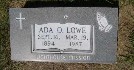 LOWE, ADA O. - Dawes County, Nebraska | ADA O. LOWE - Nebraska Gravestone Photos