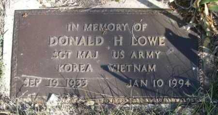 LOWE, DONALD H. - Dawes County, Nebraska   DONALD H. LOWE - Nebraska Gravestone Photos