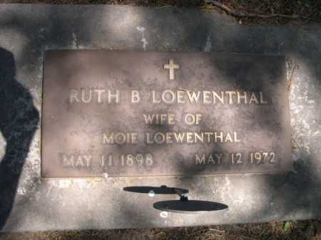 LOEWENTHAL, RUTH B. - Dawes County, Nebraska | RUTH B. LOEWENTHAL - Nebraska Gravestone Photos