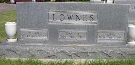LOWNES, LAWRENCE - Dawes County, Nebraska | LAWRENCE LOWNES - Nebraska Gravestone Photos