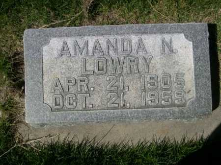 LOWRY, AMANDA N. - Dawes County, Nebraska | AMANDA N. LOWRY - Nebraska Gravestone Photos