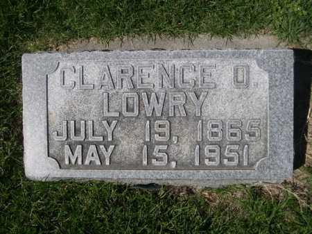 LOWRY, CLARENCE O. - Dawes County, Nebraska | CLARENCE O. LOWRY - Nebraska Gravestone Photos