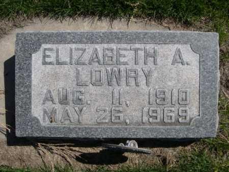 LOWRY, ELIZABETH A. - Dawes County, Nebraska   ELIZABETH A. LOWRY - Nebraska Gravestone Photos