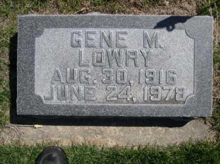 LOWRY, GENE M. - Dawes County, Nebraska | GENE M. LOWRY - Nebraska Gravestone Photos