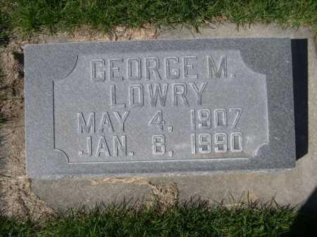LOWRY, GEORGE M. - Dawes County, Nebraska | GEORGE M. LOWRY - Nebraska Gravestone Photos
