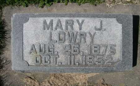 LOWRY, MARY J. - Dawes County, Nebraska | MARY J. LOWRY - Nebraska Gravestone Photos