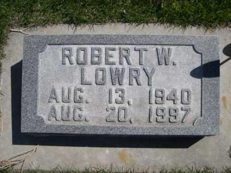 LOWRY, ROBERT W. - Dawes County, Nebraska | ROBERT W. LOWRY - Nebraska Gravestone Photos