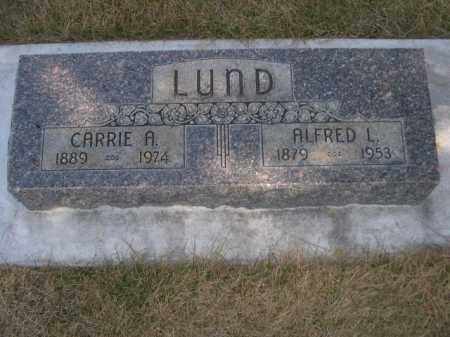 LUND, ALFRED L. - Dawes County, Nebraska | ALFRED L. LUND - Nebraska Gravestone Photos
