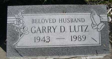 LUTZ, GARRY D. - Dawes County, Nebraska | GARRY D. LUTZ - Nebraska Gravestone Photos