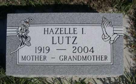LUTZ, HAZELLE I. - Dawes County, Nebraska | HAZELLE I. LUTZ - Nebraska Gravestone Photos