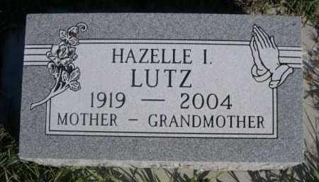 LUTZ, HAZELLE I. - Dawes County, Nebraska   HAZELLE I. LUTZ - Nebraska Gravestone Photos