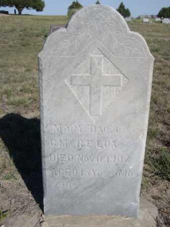 LUX, MARY - Dawes County, Nebraska   MARY LUX - Nebraska Gravestone Photos