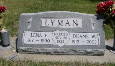 LYMAN, LENA F. - Dawes County, Nebraska | LENA F. LYMAN - Nebraska Gravestone Photos