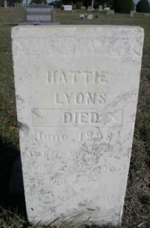 LYONS, HATTIE - Dawes County, Nebraska | HATTIE LYONS - Nebraska Gravestone Photos
