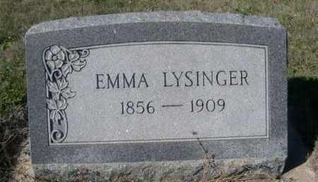 LYSINGER, EMMA - Dawes County, Nebraska   EMMA LYSINGER - Nebraska Gravestone Photos