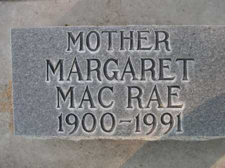 MAC RAE, MARGARET - Dawes County, Nebraska   MARGARET MAC RAE - Nebraska Gravestone Photos