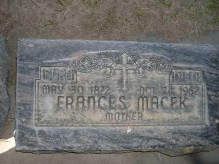 MACEK, FRANCES - Dawes County, Nebraska | FRANCES MACEK - Nebraska Gravestone Photos