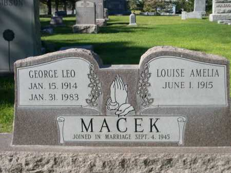 MACEK, LOUISE AMELIA - Dawes County, Nebraska | LOUISE AMELIA MACEK - Nebraska Gravestone Photos