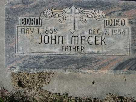 MACEK, JOHN - Dawes County, Nebraska | JOHN MACEK - Nebraska Gravestone Photos