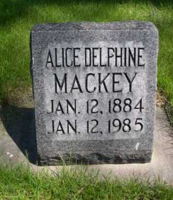 MACKEY, ALICE DELPHINE - Dawes County, Nebraska | ALICE DELPHINE MACKEY - Nebraska Gravestone Photos