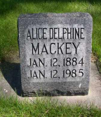 MACKEY, ALICE DELPHINE - Dawes County, Nebraska | ALICE DELPHINE MACKEY - Nebraska Gravestone Photos