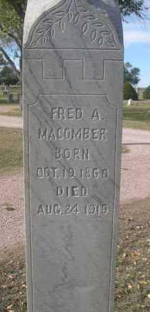 MACOMBER, FRED A. - Dawes County, Nebraska   FRED A. MACOMBER - Nebraska Gravestone Photos