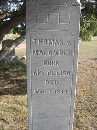 MACOMBER, THOMAS S. - Dawes County, Nebraska   THOMAS S. MACOMBER - Nebraska Gravestone Photos