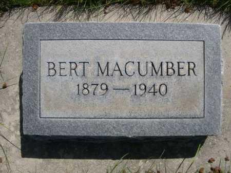 MACUMBER, BERT - Dawes County, Nebraska | BERT MACUMBER - Nebraska Gravestone Photos