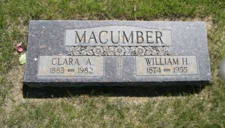 MACUMBER, WILLIAM H. - Dawes County, Nebraska | WILLIAM H. MACUMBER - Nebraska Gravestone Photos