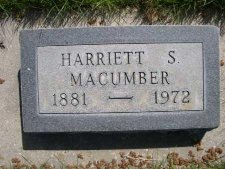 MACUMBER, HARRIETT S. - Dawes County, Nebraska | HARRIETT S. MACUMBER - Nebraska Gravestone Photos