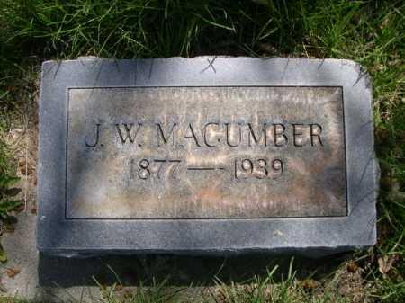 MACUMBER, J. W. - Dawes County, Nebraska | J. W. MACUMBER - Nebraska Gravestone Photos