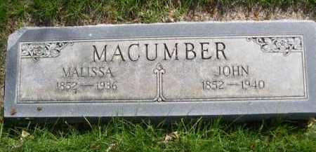 MACUMBER, JOHN - Dawes County, Nebraska   JOHN MACUMBER - Nebraska Gravestone Photos