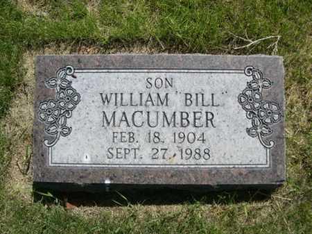 "MACUMBER, WILLAIM ""BILL"" - Dawes County, Nebraska | WILLAIM ""BILL"" MACUMBER - Nebraska Gravestone Photos"