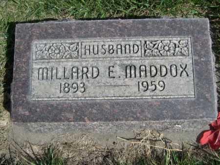 MADDOX, MILLARD E - Dawes County, Nebraska | MILLARD E MADDOX - Nebraska Gravestone Photos