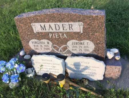 MADER, VIRGINIA M. - Dawes County, Nebraska | VIRGINIA M. MADER - Nebraska Gravestone Photos