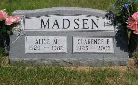 MADSEN, ALICE M. - Dawes County, Nebraska | ALICE M. MADSEN - Nebraska Gravestone Photos