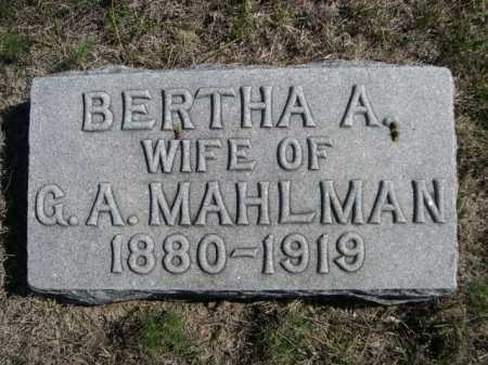 MAHLMAN, BERTHA A. - Dawes County, Nebraska   BERTHA A. MAHLMAN - Nebraska Gravestone Photos