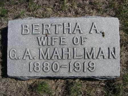 MAHLMAN, BERTHA A. - Dawes County, Nebraska | BERTHA A. MAHLMAN - Nebraska Gravestone Photos
