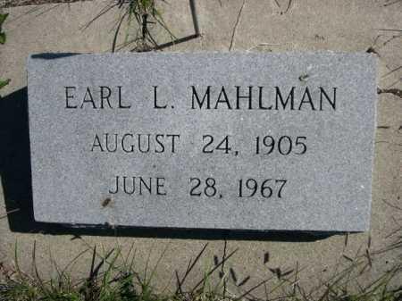 MAHLMAN, EARL L. - Dawes County, Nebraska | EARL L. MAHLMAN - Nebraska Gravestone Photos