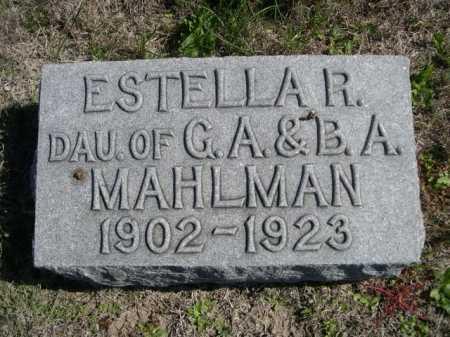 MAHLMAN, ESTELLA R. - Dawes County, Nebraska   ESTELLA R. MAHLMAN - Nebraska Gravestone Photos