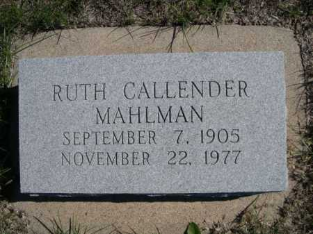 MAHLMAN, RUTH - Dawes County, Nebraska | RUTH MAHLMAN - Nebraska Gravestone Photos