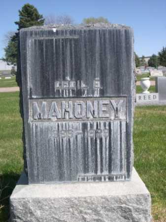 MAHONEY, CECIL E. - Dawes County, Nebraska   CECIL E. MAHONEY - Nebraska Gravestone Photos