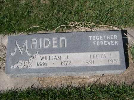 MAIDEN, WILLIAM J. - Dawes County, Nebraska | WILLIAM J. MAIDEN - Nebraska Gravestone Photos